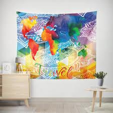 Map Tapestry Modern Wall Tapestries Art Wall Tapestry Goodart
