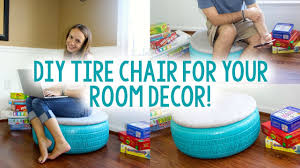 How To Use Old Tires For Decorating Diy Tire Chair Inspired Diy Room Decor Youtube