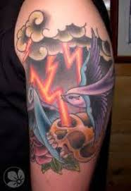 storm lightning and clouds tattoo lighting