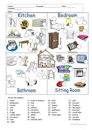 singular kitchen furniture vocabulary picture concept in the