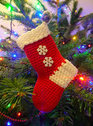 Free Crochet Patterns For Christmas Tree Ornaments Christmas Stocking Free Crochet Pattern