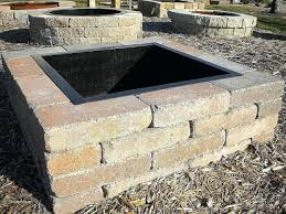 Firepit Insert Pit Square Outdoor Pit Insert New Inserts Covers