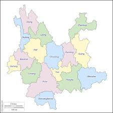 Kunming China Map by Yunnan Free Map Free Blank Map Free Outline Map Free Base Map