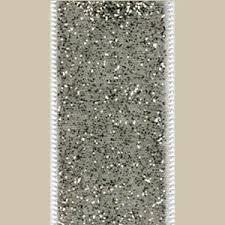 silver glitter ribbon ribbon white silver glitter caspari r793