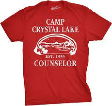 Halloween Movie T Shirt by Amazon Com Mens Camp Crystal Lake T Shirt Funny Shirts Camping