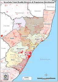 Health Map Map Of Kzn Health Districts U0026 Population