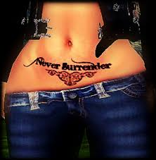 second life marketplace never surrender tattoo