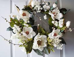 cherry blossom magnolia wreath wreath white cherry