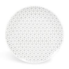 assiette de porcelaine assiette à dessert en porcelaine d 19 cm graphique maisons du monde