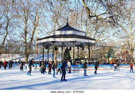 winter hyde park rink stock photos winter