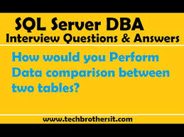 sql difference between two tables how would you perform data comparison between two tables sql