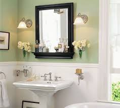cottage bathroom mirror ideas blue wall color wall marble