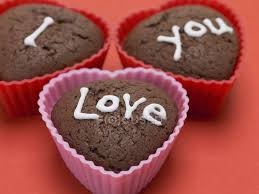 heart shaped chocolate heart shaped chocolate muffins stock photo 153082702