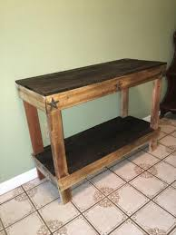 Upcycled Console Table Pallet Hallway Entryway Table Pallet Furniture Plans