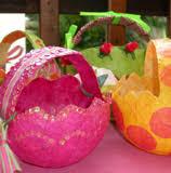 paper mache easter baskets such easter baskets paper mache a balloon paint tissue
