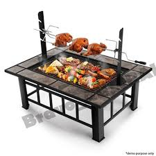 outdoor fire pit bbq table grill garden patio camping heater