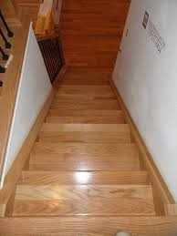 interior oak stair design idea with brown oak tread covers combine
