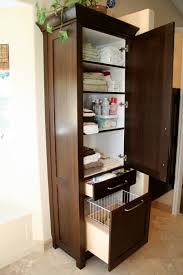 Bathroom Countertop Storage by Bathroom Gray Free Standing Bathroom Linen Storage Tower Next To