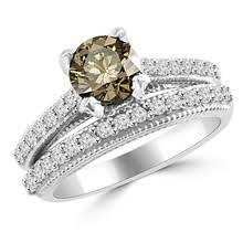 Vintage Wedding Ring Sets by Champagne Brown Diamond Engagement And Wedding Rings