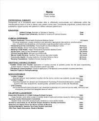 Lab Experience Resume Hospice Resume 5 Free Word Pdf Document Downloads Free