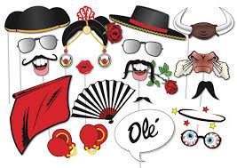 flamenco matador photobooth party props set 21 piece