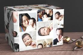 make your gift personal with this custom photo gift wrap