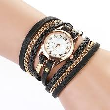 bracelet leather watches images Charming vintage weave wrap leather chain bracelet jpg