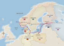 map northern europe scandinavia stockholm to bergen cruise overview viking