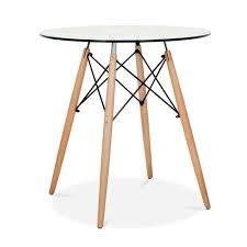 Esszimmertisch Dunkles Holz Eames Dsw Style 70cm Glastisch Dsw Esstische Cult De