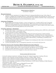 Veterinary Assistant Resume Examples by Vet Assistant Resume Objective Veterinary Curriculum Vitae Example