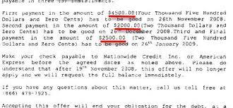 american express sample debt settlement agreement letter leave
