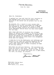 Manual Testing Sample Resumes by Frank Sinatra Wrote George H W Bush A Letter About Flag Burning