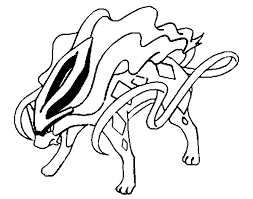 coloring pages pokemon suicune drawings pokemon
