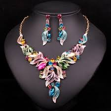 prom jewelry new fashion indian rhinestone bridal jewelry set wedding prom
