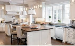 kitchens with white cabinets white vs wood kitchen cabinets