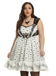 the nightmare before embroidery dress plus size
