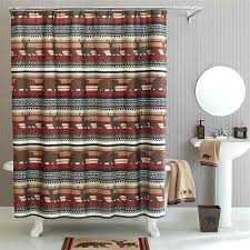 Curtains For A Cabin Brown Rustic Lodge Cabin Buck Deer Outdoor Themed Fabric