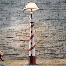 elegant wooden lighthouse coastal kids bedroom floor lamps kids