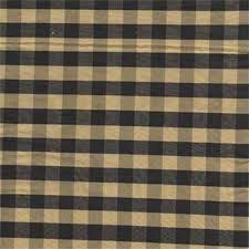 Sunshine Drapery Sunshine Black Gold Check Silk Drapery Fabric 20103