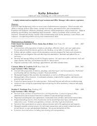 Sample Paralegal Resume With No Experience by Paralegal Resume Objective Resume Templates
