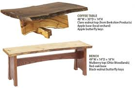 Rounded Edge Coffee Table - how to work with natural edge slabs wood magazine