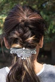 barrette hair hair clip barrette hair accessory nouveau leaf oberon