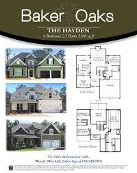 hayden homes floor plans baker oaks new homes from bamford u0026 company in acworth ga