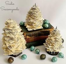 recycled sheet music christmas trees allfreechristmascrafts com