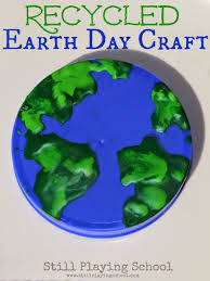 earth day crafts projects and ideas for kids still playing