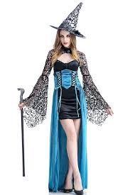 zooma women blue witch costume deluxe gothic dresses