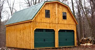 12x24 1 car 2 story garage with gambrel roof super spacious
