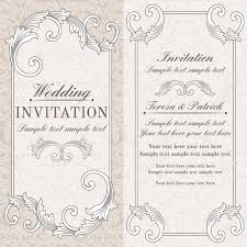 baroque wedding invitation card in old fashioned style grey