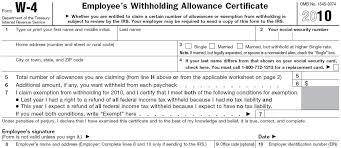 W4 Worksheet Avoid A Large Tax Bill