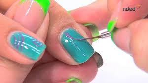 dessin sur ongle en gel nail art décor été avec vernis semi permanent pour ongles nded